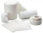 Dressings, plasters and bandages