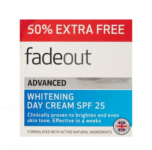 Fade Out Advanced EVEN SKIN TONE DAY CREAM SPF25 50ml plus 50%