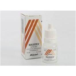 Maxidex eye drops suspension 0 1% 10ml