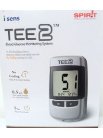 TEE2 blood glucose monitoring system, no coding required, very small sample size