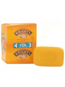 Wright's Traditional Soap with Coal Tar Fragrance 4 Bars For Price Of 3 125g