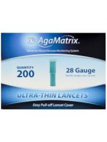 Agamatrix ultra thin lancets 28g  Pack of 200