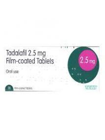 Tadalafil 2.5mg tablets pack of 28