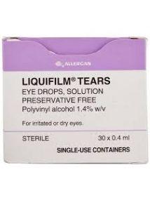 Liquifilm Tears 1.4 % Eye Drops (0.4ml single use Unit) Pack of 30