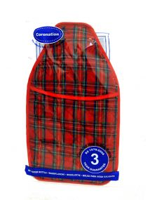 Coronation 2 Litre Hot Water Bottle with Tartan Cover Various Colours