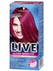 Schwarzkopf Live Semi Permanent Color Ultra Brights/Pastel 91 Raspberry Rebel