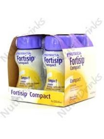 Fortisip Compact Feeding Supplement banana 125ml 4 Pack