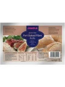Juvela Gluten-free Part-baked Rolls Fibre 75g 5 Pack