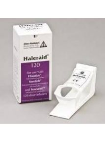 Haleraid 120 device,for use with 120dose inhalers,for arthritic hands etc