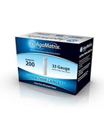 Agamatrix ultra thin lancets 33g  Pack of 200