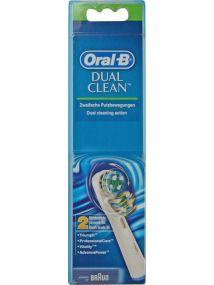Oral B Dual Clean Brush Heads x2