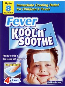 Kool'n'Soothe Fever Soft Gel Sheets x4