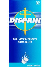 Disprin 300mg 32 Soluble Tablets