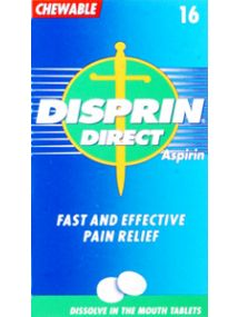 Disprin Direct 300mg 16 Chewable Tablets