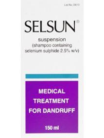 Selsun shampoo dandruff treatment 2.5% w/v 150ml