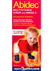 Abidec Multivitamin Syrup with Omega3 for Children Aged1-5 150ml