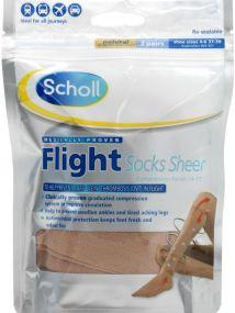 Scholl Flight Socks Sheer Small
