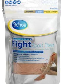 Scholl Flight Socks Sheer Medium
