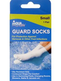 Aqua Small Guard Socks