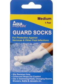 Aqua Medium Guard Socks
