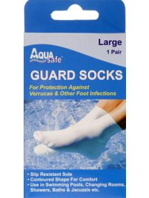 Aqua Large Guard Socks