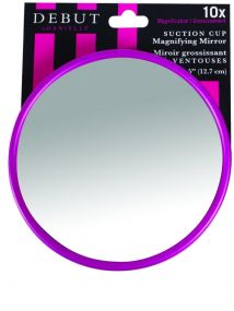 Danielle Suction Cup 10x Magnifying Mirror  D9414  Various Colours
