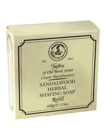 Taylor of Old Bond Street SANDALWOOD HERBAL Shaving Soap Refill 100g