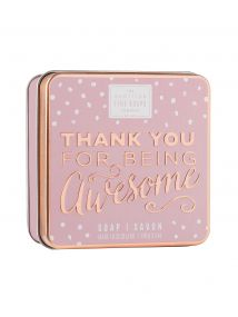 The Scottish Fine Soaps Company Thank You For Being Awesome Soap In A Tin 100g