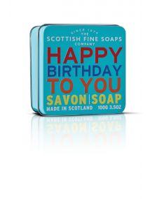 The Scottish Fine Soaps Company Happy Birthday Soap In A Tin 100g
