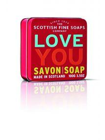 The Scottish Fine Soaps Company Love You Soap In A Tin 100g