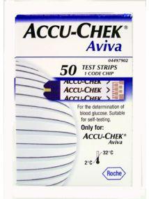 Aviva glucose test strips 50 pack