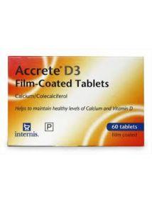 Accrete D3 tablets 1500mg/400iu pack of 60(calcium/colecalciferol)