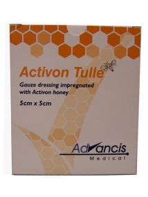 Activon tulle Gauze dressing with Activon honey 5cm x 5cm