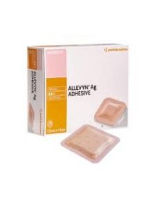 Allevyn AG silver Adhesive dressing 7.5 cm x 7.5cm Pack of 10