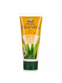 Aloe Pura Organic Aloe Vera Sun Lotion SPF50 High Protection 200ml