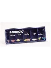 Anabox daily pillbox dark blue colour
