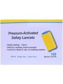 Apollo pressure activated lancets 28G  Pack of 100