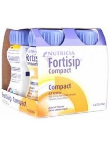 Fortisip Compact Feeding Supplement apricot 125ml 4 Pack