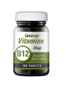Lifeplan Vitamin B12 25mcg 100 Tablets