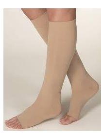 Altiform compression hosiery Class 1 below knee open toe beige large