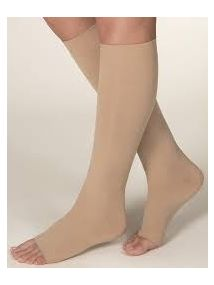Altiform compression hosiery Class 1 below knee open toe beige medium