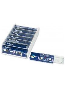 Anabox weekly pill dispenser blue