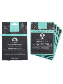 Danielle BLACK CHARCOAL SERIES Detoxifying Bamboo Charcoal Sheet Mask D76500