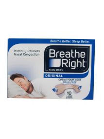 Breathe Right Nasal Strips 10 Large Tan