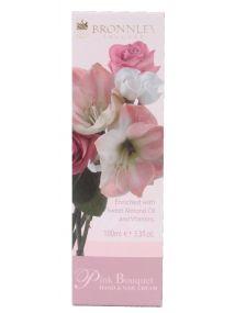 Bronnley Pink Bouquet Hand & Nail Cream Tube 100ml