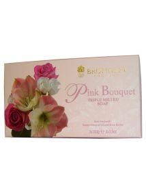 Bronnley Pink Bouquet Soap 3x100g