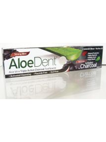 AloeDent Triple Action Fluoride Free Charcoal toothpaste 100ml