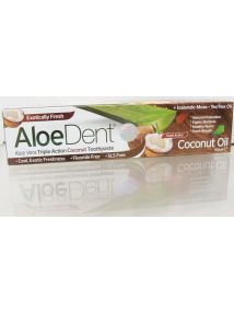 AloeDent Triple Action Fluoride Free Coconut Toothpaste 100ml