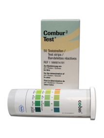 Combur-3 urine test strips Pack of 50