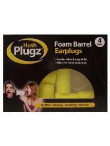 Hush Plugz Foam Barrel Earplugs